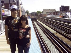 Metrô em Chicago.