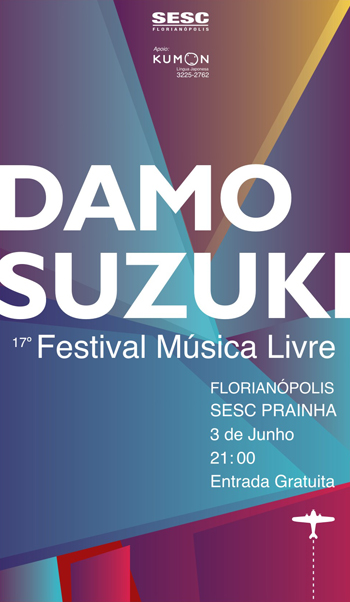 Damo Suzuki 17 Festival Música Livre
